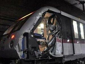 В корейском метрополитене врезались два поезда, двести пострадавших