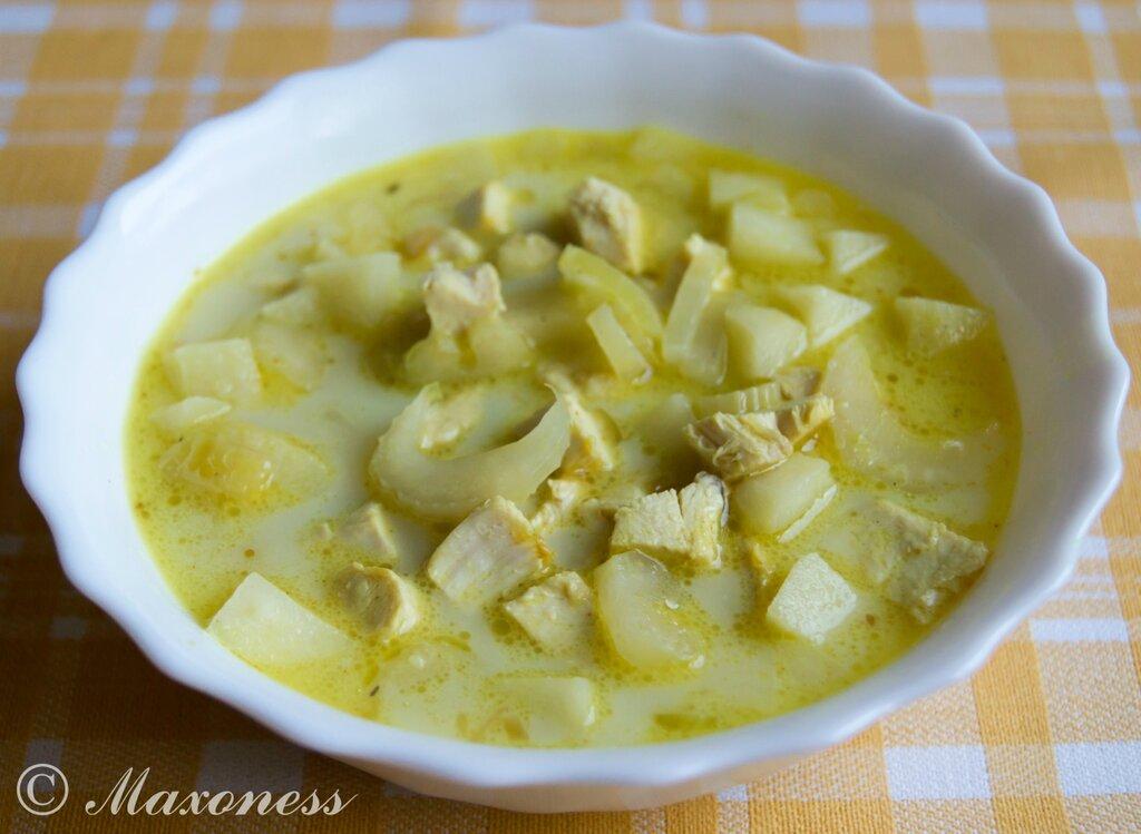 Сенегальский куриный суп с яблоками и сельдереем. Африканская кухня