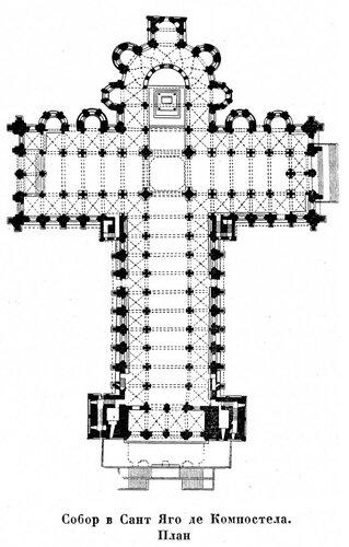Собор в Сант Яго де Компостела, план