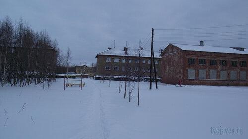 Фото города Инта №2789  Гагарина 15, 3, Геологическая 4 и Коммунистическая 22 (школа №3) 31.01.2013_13:25