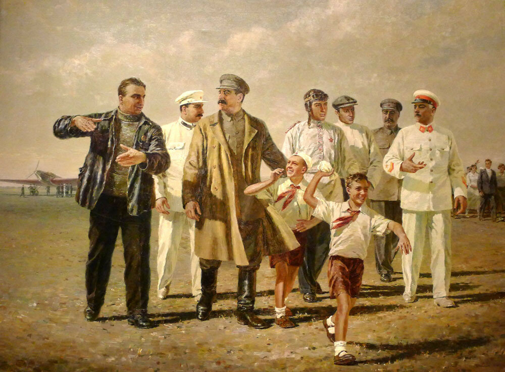 Мальцев Петр - Встреча героического экипажа (1938)
