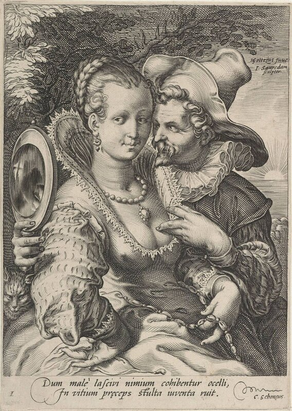 Jan Saenredam (1565 - 1607) Die Fünf Sinne - Kupferstichfolge nach Hendrik Goltzius (1558 - 1617)