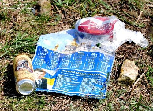после реконструкции боя за освобождение Луганска осталось много мусора