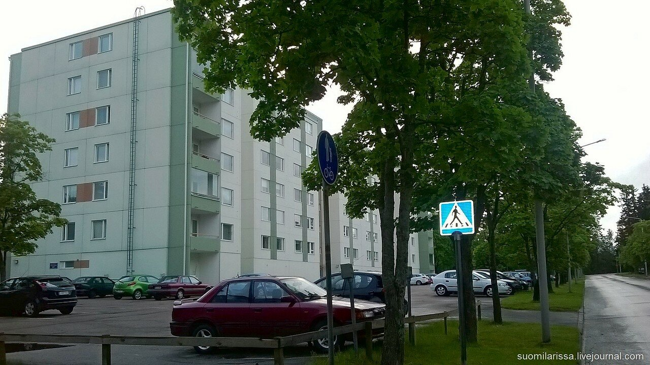 Жилые кварталы города.