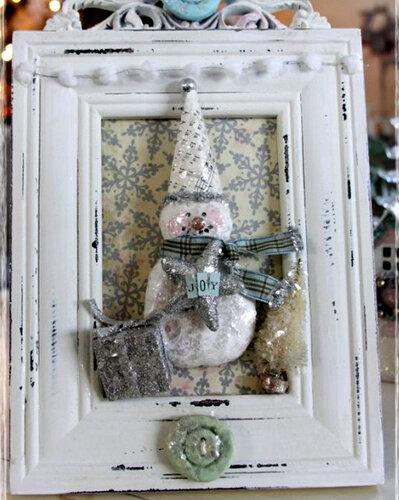Коллаж снеговик