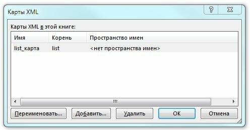 Рис. 8.7. Диалоговое окно Карты XML