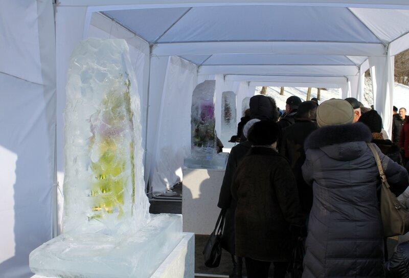 Посетители Выставки цветов Снежной Королевы