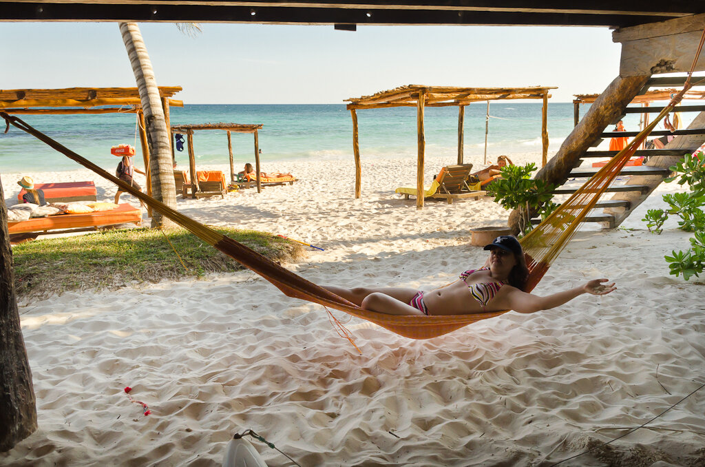 Фотография 6. Пляжный отдых в Мексике. После стольких дней активного самостоятельного путешествия приятно просто расслабиться...