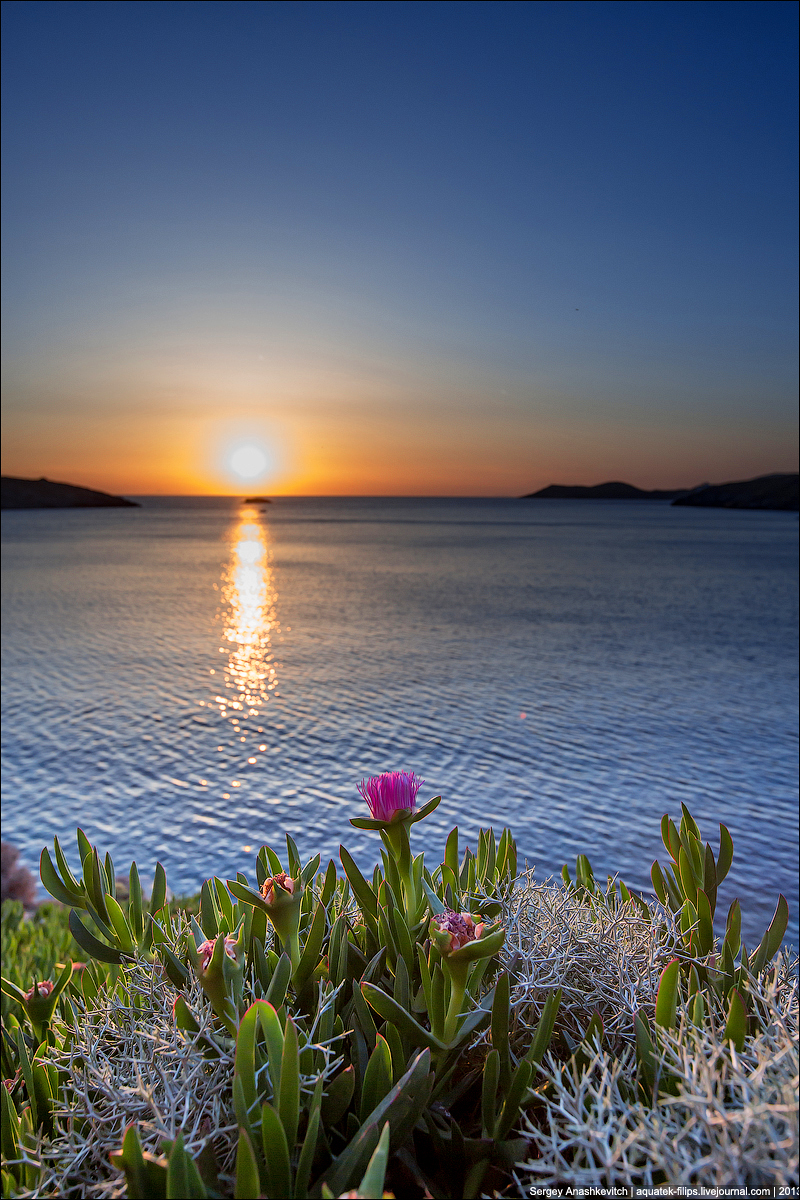 Закат на острове Кифос