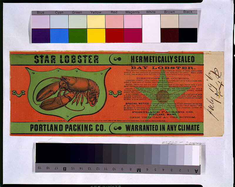 Star lobster--Portland Packing Co 1867.