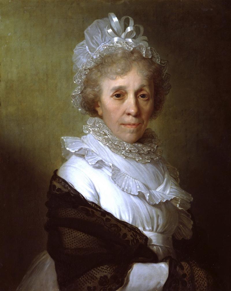 Портрет пожилой женщины в белом чепце