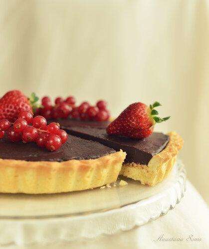Тарт с шоколадом и пралине