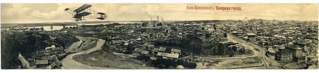 Новониколаевск, панорама города, 17 апреля 1917 года