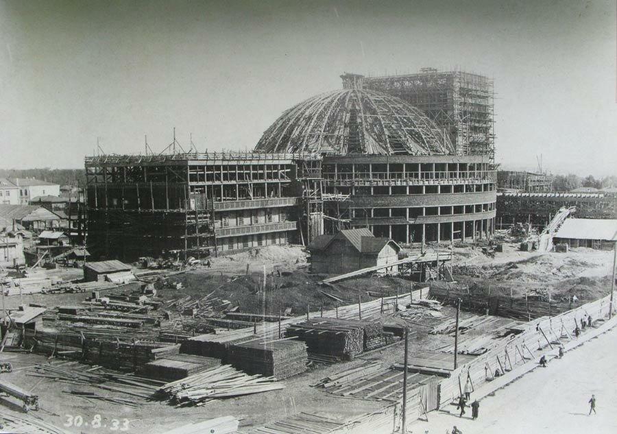 Строительство театра оперы и балета, 30 августа 1933 г.