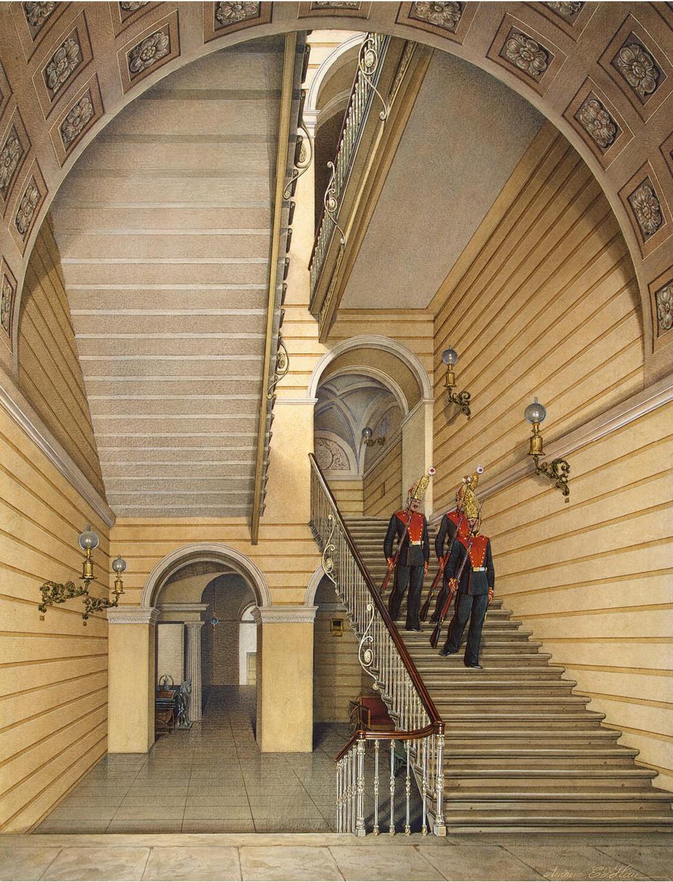 Интерьеры Зимнего дворца. Лестница в церкви