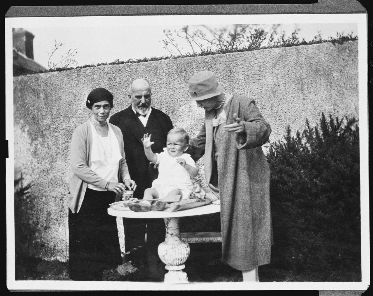 Великая княгиня Ксения Александровна, дочь императора Александра III. Сентябрь 1931 года