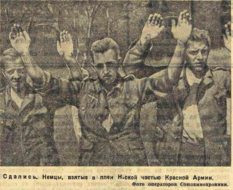 «Известия», 26 августа 1941 года, как русские немцев били, потери немцев на Восточном фронте, пленные немцы, пленные немцы в советской армии, немцы в советском плену
