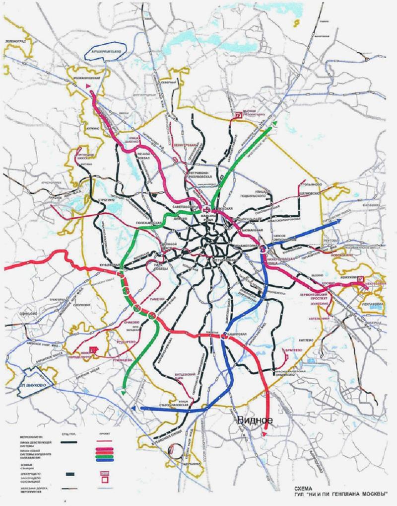 Видно схема метро карта