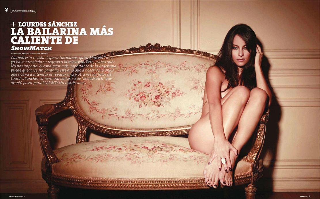 Аргентинская танцовщица, модель и актриса Лурдес Санчес / Lourdes Sanchez - Playboy Argentina april 2013