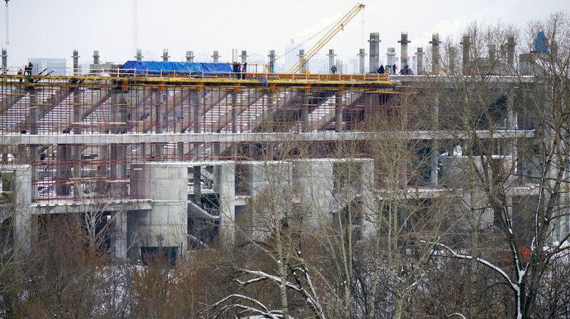 Строительство стадиона «Спартак» начало февраля 2013 (Фото)