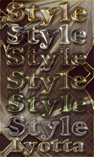 Полупрозрачные сияющие стили с яркой переливающейся золотой и серебристой обводкой 0_c9694_470c0d43_L
