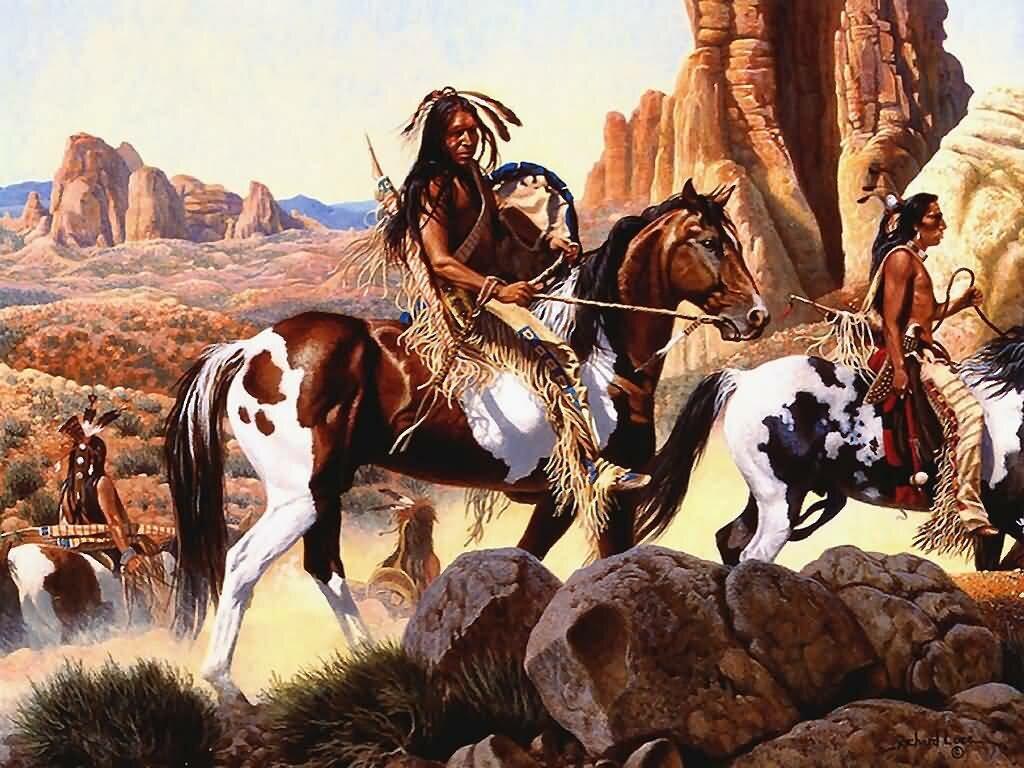 лошадей мустангов