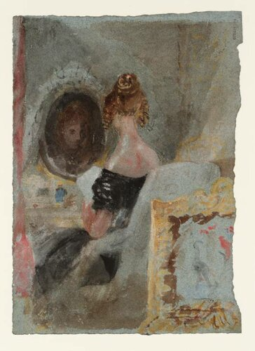 A Lady in a Black Dress at her Toilet 1827 by Joseph Mallord William Turner 1775-1851
