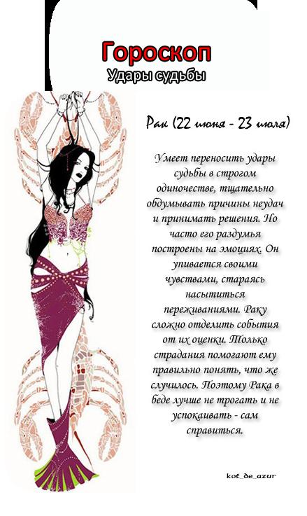 Гороскоп - Удары Судьбы!