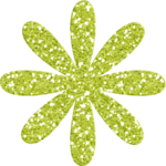 glitter flower green.png