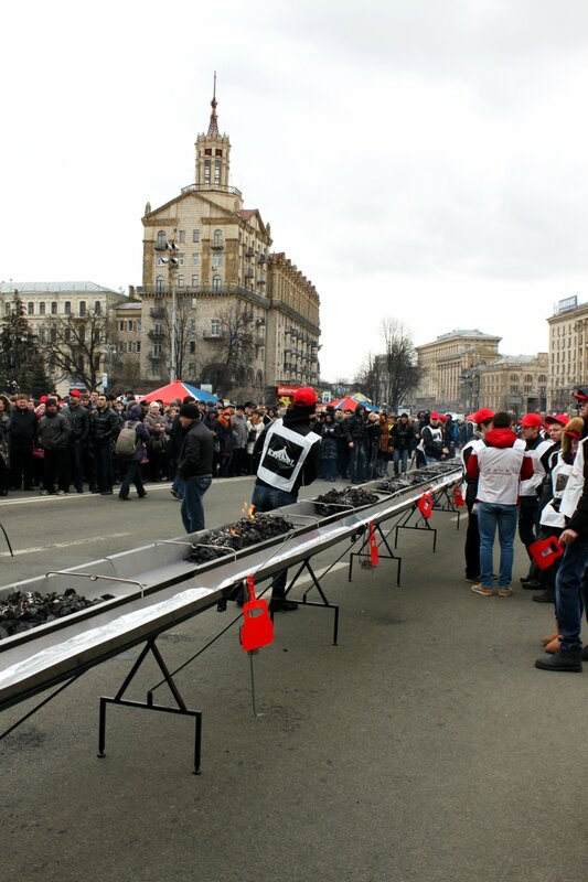 Мангал на Майдане Незалежности