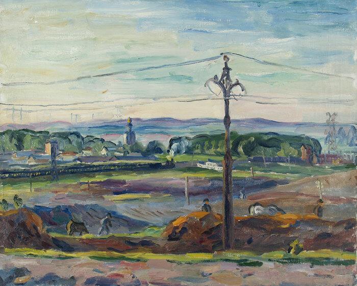Лентулов. Окрестности Москвы, 1940.