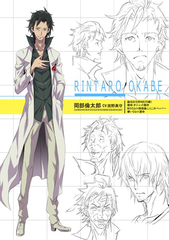 Steins;Gate, врата штайнера, аниме 2012, Ринтаро Окабэ, арт