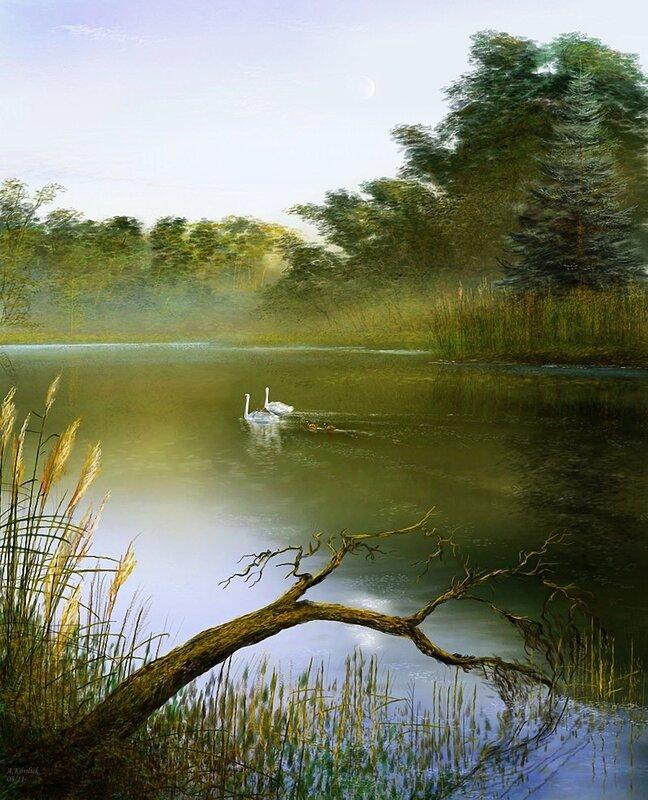 Моей печали лебедь белоснежный... художник  Andre Kosslick