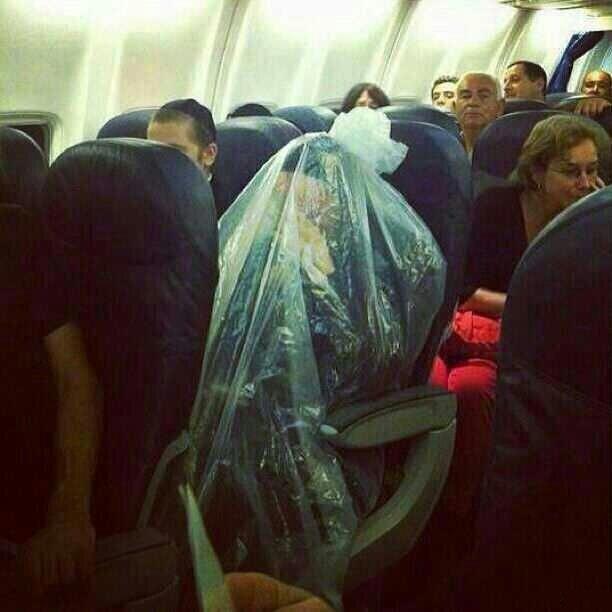 Ультраортодоксальный еврей в самолёте