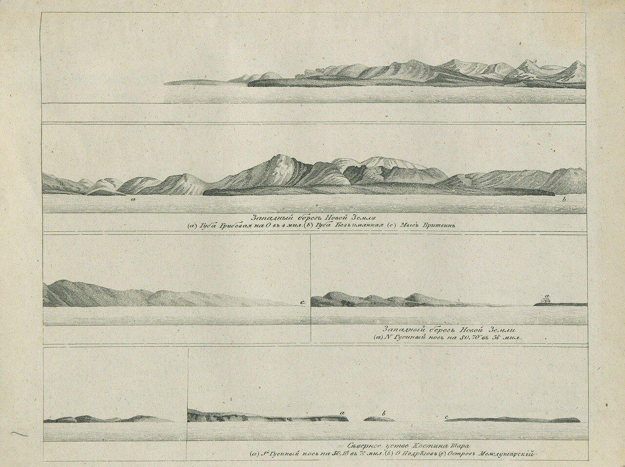 Западный берег Новой Земли и Северное устье Костина Шара