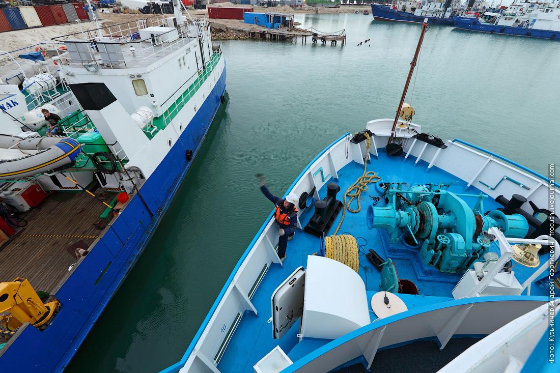 теплоход Русь Великая прибывает в порт Баутино