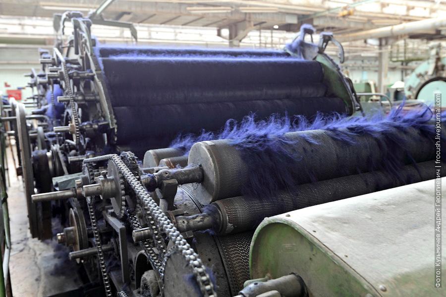 кардочесальная машина на камвольном производстве
