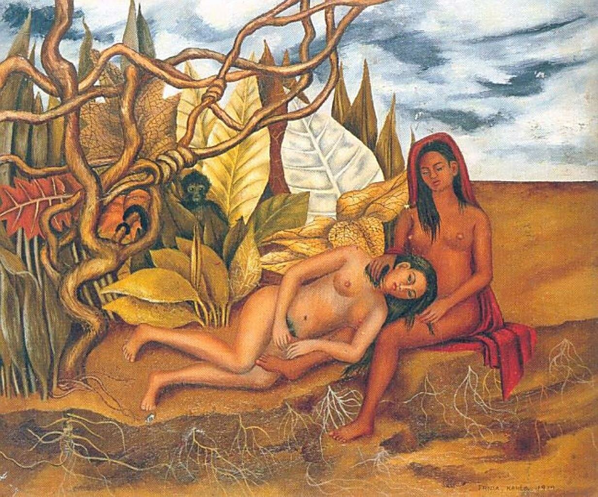 Две обнажённые в лесу. (Моя медсестра и я.) 1939  Two Nudes in the Forest. Кало Фрида,  (1907-1954);Кало Фрида,  (1907-1954)