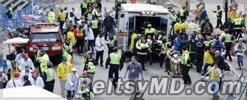 Теракт в США — два взрыва на Бостонском марафоне