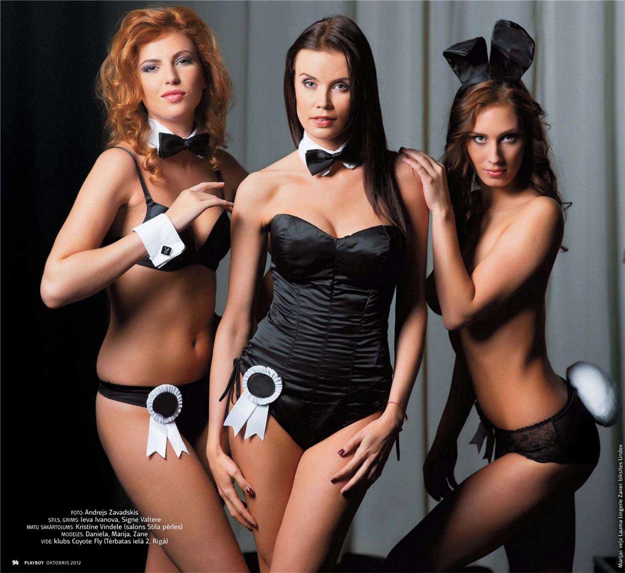 голые иконы поп-культуры Латвии - Playboy Latvia october 2012