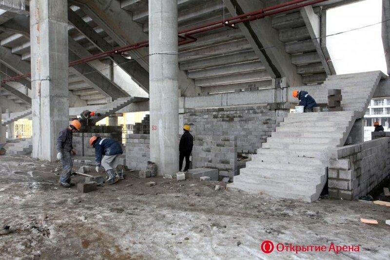 Строительство стадиона «Спартак» апрель 2013 (Фото)