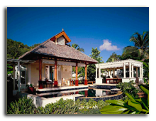 Сейшелы. О. Маэ. Banyan Tree Seychelles. Beachfront Spa Pool Villa. Exterior View day