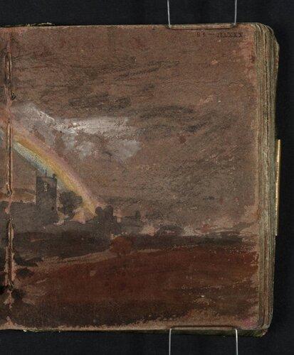 ?Lewisham Church, with a Rainbow 1796-7 by Joseph Mallord William Turner 1775-1851