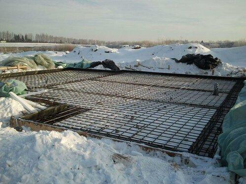 Фундамент зимой