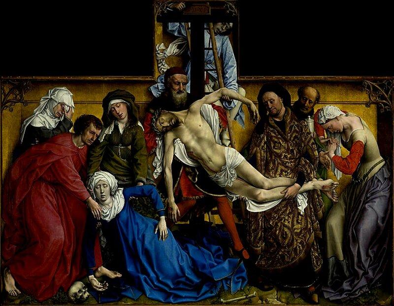 Картина - Снятие с креста из церкви св.Петра (копия)оригинал в Прадо.(музей в Испании).jpg