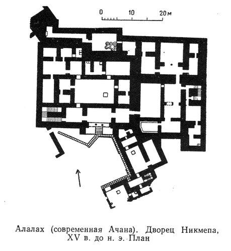 Дворец Никмепа в Алалахе, план
