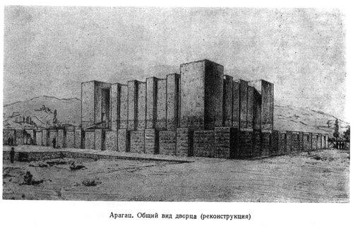 Цитадель Арагац, Урарту, генплан, реконструкция дворца