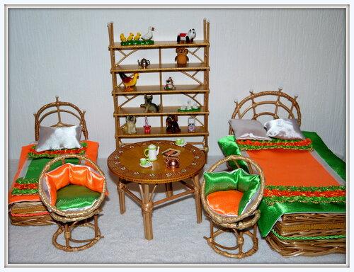 Плетёная мебель для кукол своими руками 45