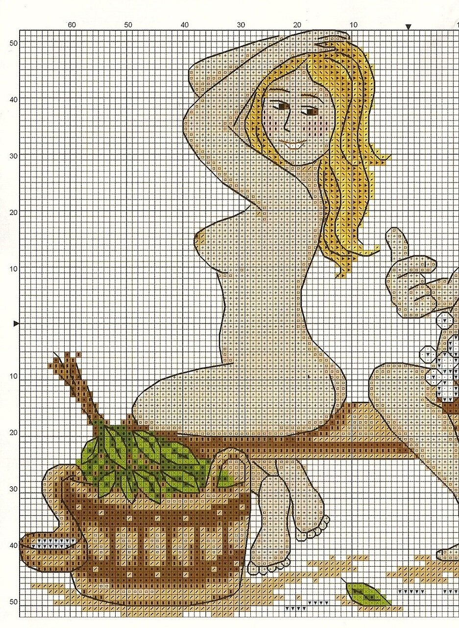 Схема вышивки банная тема 78