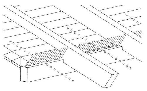 Верхний воздушный канал на карнизе; перфорированный лист
